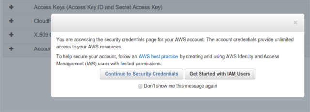 amazon-generate-credentials