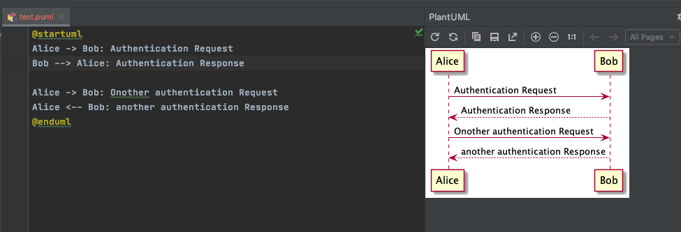 PlantUML: Create a sequence diagram inside PyCharm - Upidev