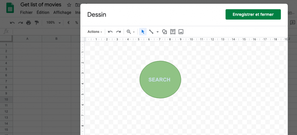 Upidev: Create a button in a google spreadsheet and call a app script